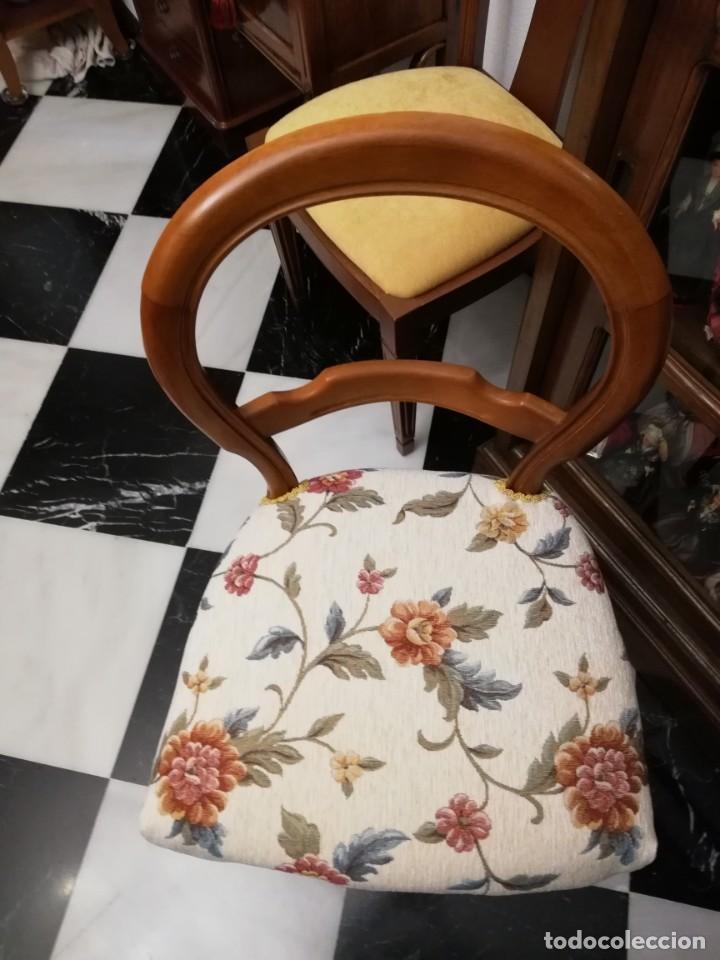 Antigüedades: Silla de madera maciza, estilo isabelina. - Foto 4 - 187204740