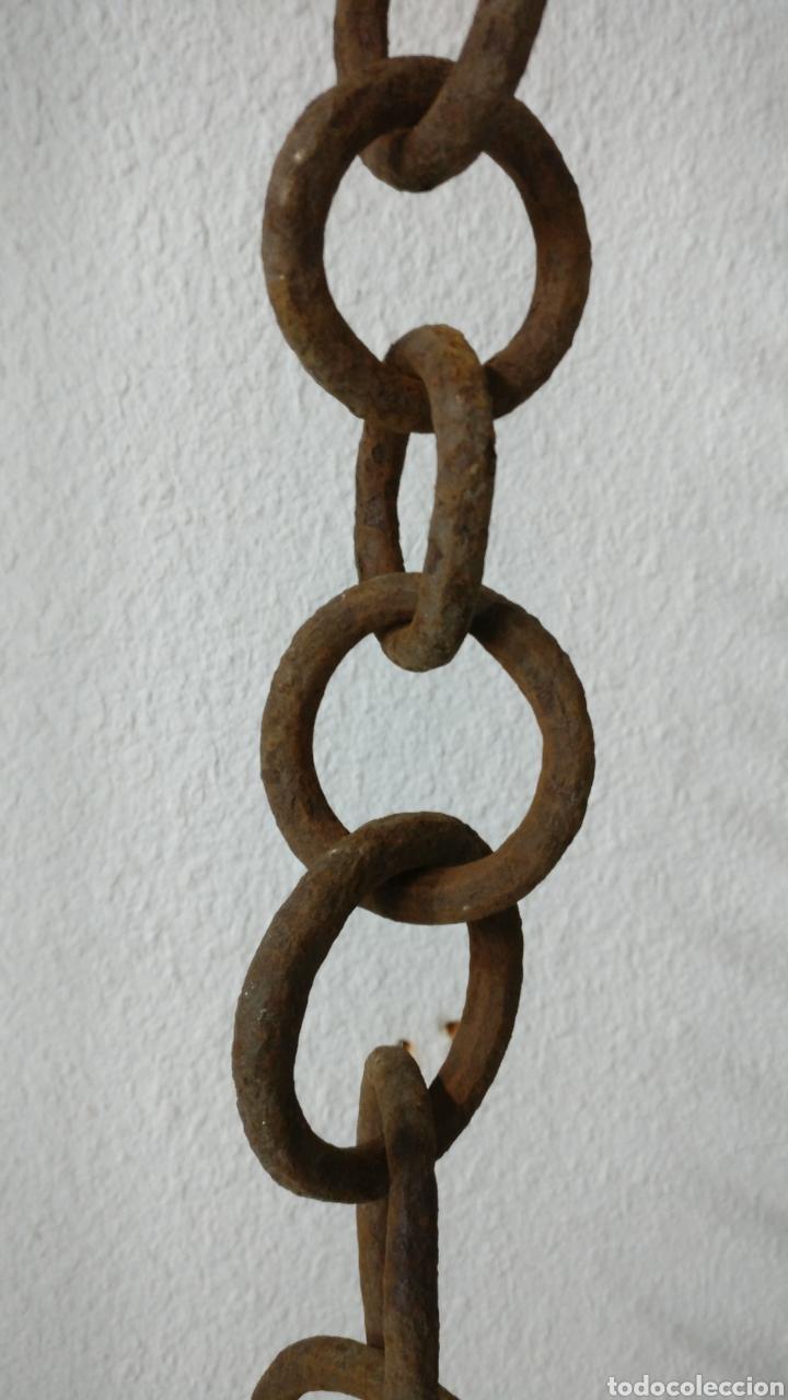 Antigüedades: Cremallo llar cremallera cadena en hierro de forja colgador de ollas calderos 113 cm, chimenea. - Foto 5 - 187210672