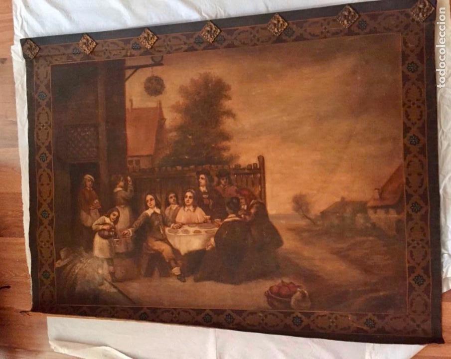 Antigüedades: Tapiz pintado a mano - Foto 2 - 187211116