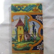 Antigüedades: PAREJA DE AZULEJOS RAMOS REJANO. Lote 187211406