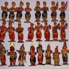Antigüedades: FIGURITAS DE MADERA DE LA INDIA. Lote 187232305