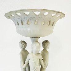 Antigüedades: FIGURA DE CENTRO DE BISCUIT CON TRES NIÑOS, SIGLO XIX. Lote 258511600
