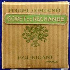 Antigüedades: ANTIGUA CAJA DE POLVOS. POUDRE COMPRIMÈE, HOUBIGANT. Lote 187299688