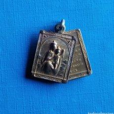 Antigüedades: MEDALLA RELIGIOSA ANTIGUA NUESTRA SEÑORA DEL CARMEN VIRGEN / 14 X 21 CM. Lote 187300356