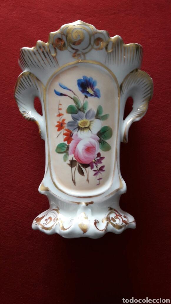 FLORERO ISABELINO (Antigüedades - Porcelana y Cerámica - Francesa - Limoges)