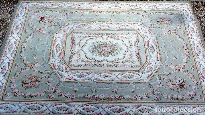 Antigüedades: Alfombra S.XIX Aubusson, lana antigua tejida a mano- Napoleón III - Foto 2 - 187305167