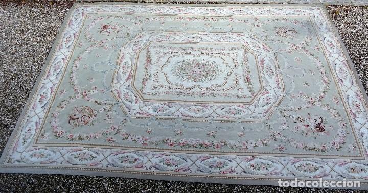 Antigüedades: Alfombra S.XIX Aubusson, lana antigua tejida a mano- Napoleón III - Foto 3 - 187305167