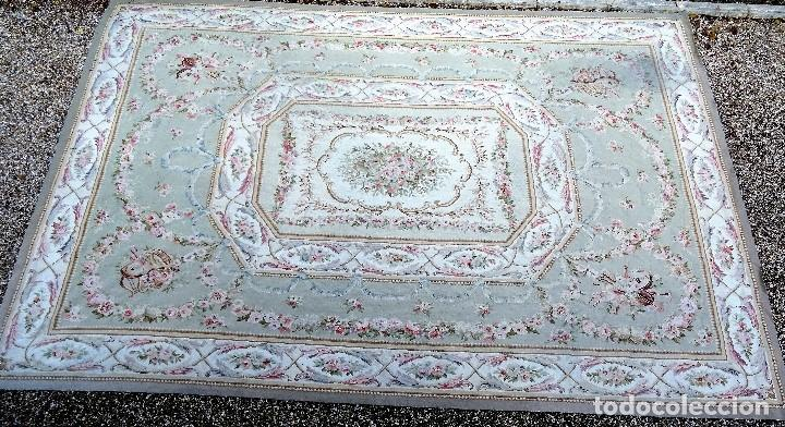Antigüedades: Alfombra S.XIX Aubusson, lana antigua tejida a mano- Napoleón III - Foto 4 - 187305167