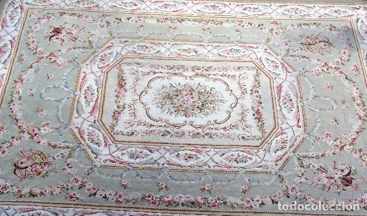 Antigüedades: Alfombra S.XIX Aubusson, lana antigua tejida a mano- Napoleón III - Foto 5 - 187305167