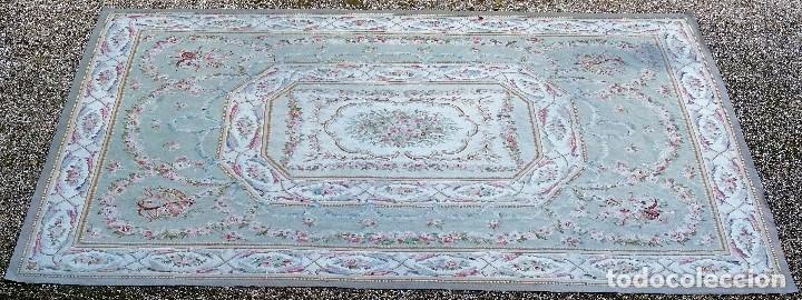 Antigüedades: Alfombra S.XIX Aubusson, lana antigua tejida a mano- Napoleón III - Foto 6 - 187305167