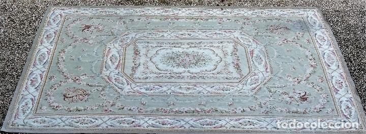 Antigüedades: Alfombra S.XIX Aubusson, lana antigua tejida a mano- Napoleón III - Foto 7 - 187305167