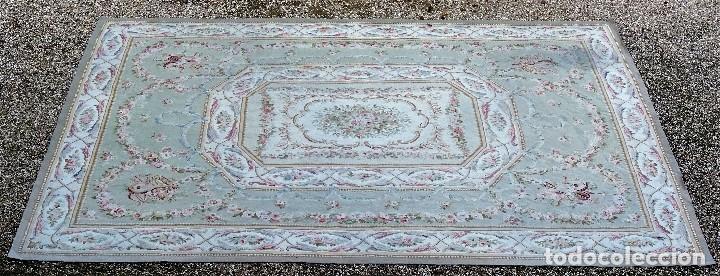 Antigüedades: Alfombra S.XIX Aubusson, lana antigua tejida a mano- Napoleón III - Foto 8 - 187305167