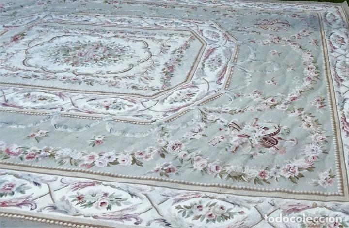 Antigüedades: Alfombra S.XIX Aubusson, lana antigua tejida a mano- Napoleón III - Foto 9 - 187305167