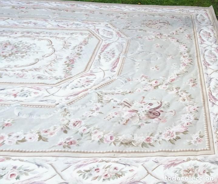 Antigüedades: Alfombra S.XIX Aubusson, lana antigua tejida a mano- Napoleón III - Foto 10 - 187305167