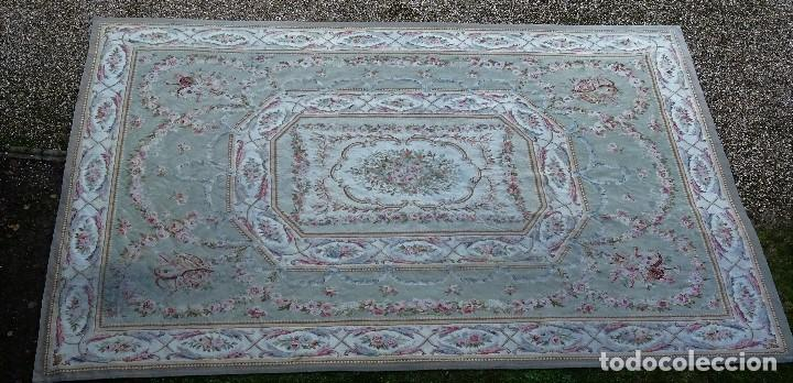 Antigüedades: Alfombra S.XIX Aubusson, lana antigua tejida a mano- Napoleón III - Foto 11 - 187305167