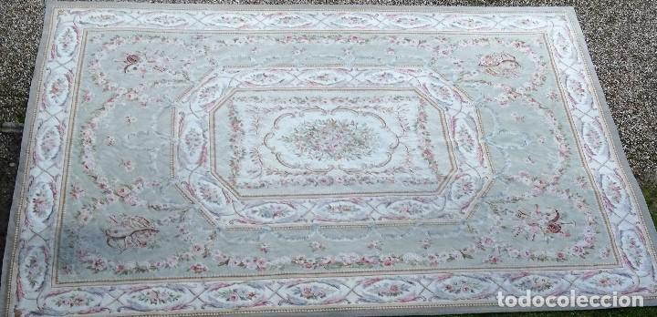 Antigüedades: Alfombra S.XIX Aubusson, lana antigua tejida a mano- Napoleón III - Foto 12 - 187305167