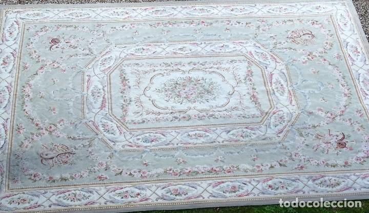 Antigüedades: Alfombra S.XIX Aubusson, lana antigua tejida a mano- Napoleón III - Foto 13 - 187305167