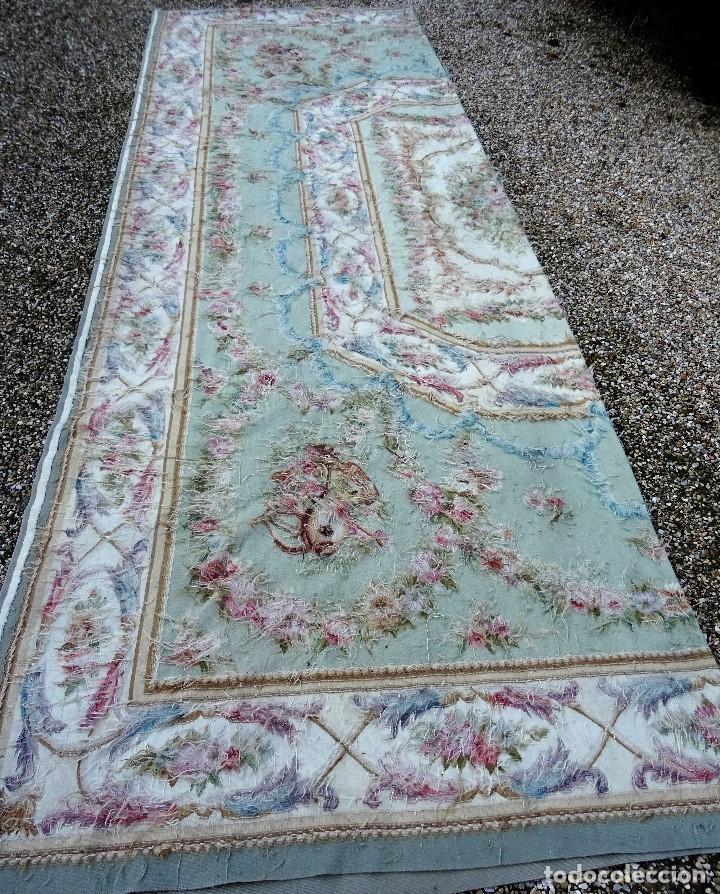 Antigüedades: Alfombra S.XIX Aubusson, lana antigua tejida a mano- Napoleón III - Foto 15 - 187305167