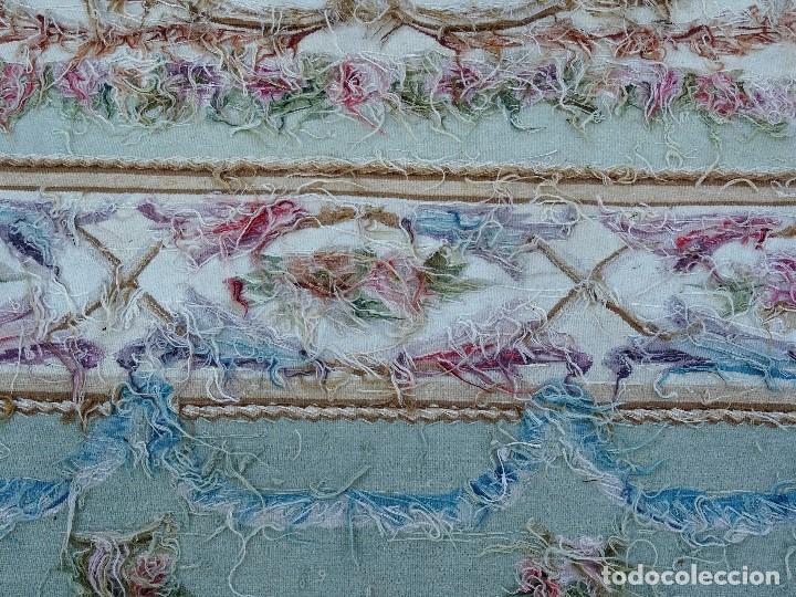Antigüedades: Alfombra S.XIX Aubusson, lana antigua tejida a mano- Napoleón III - Foto 16 - 187305167