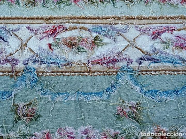 Antigüedades: Alfombra S.XIX Aubusson, lana antigua tejida a mano- Napoleón III - Foto 17 - 187305167