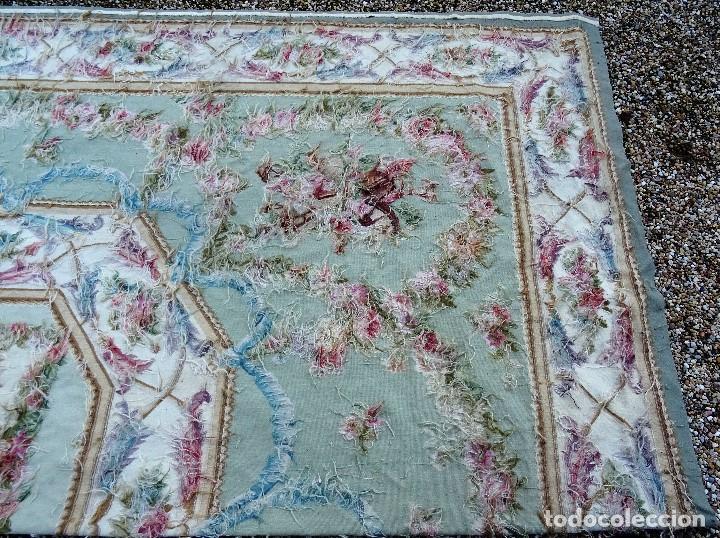 Antigüedades: Alfombra S.XIX Aubusson, lana antigua tejida a mano- Napoleón III - Foto 19 - 187305167