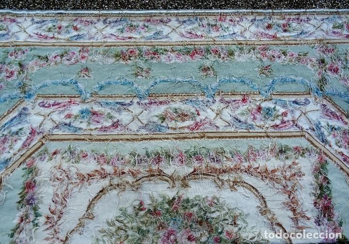 Antigüedades: Alfombra S.XIX Aubusson, lana antigua tejida a mano- Napoleón III - Foto 20 - 187305167