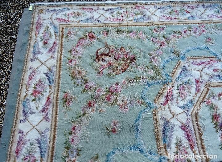Antigüedades: Alfombra S.XIX Aubusson, lana antigua tejida a mano- Napoleón III - Foto 21 - 187305167