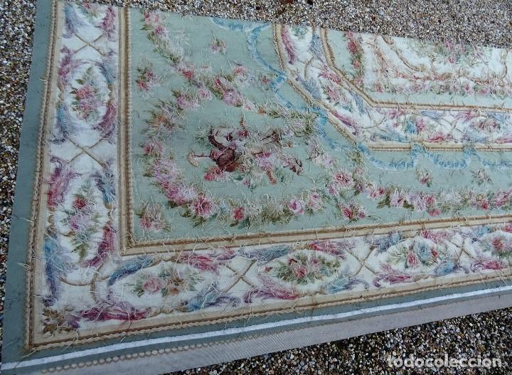 Antigüedades: Alfombra S.XIX Aubusson, lana antigua tejida a mano- Napoleón III - Foto 22 - 187305167