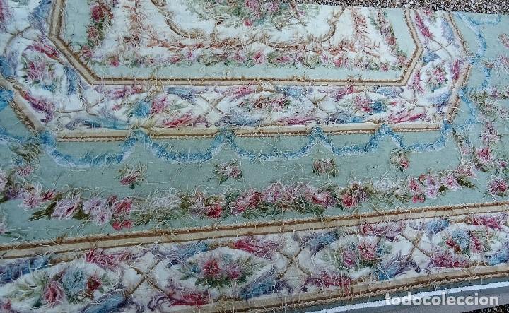 Antigüedades: Alfombra S.XIX Aubusson, lana antigua tejida a mano- Napoleón III - Foto 23 - 187305167