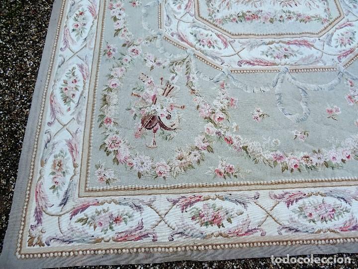 Antigüedades: Alfombra S.XIX Aubusson, lana antigua tejida a mano- Napoleón III - Foto 25 - 187305167