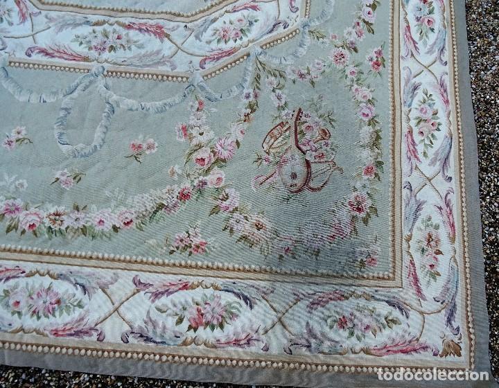 Antigüedades: Alfombra S.XIX Aubusson, lana antigua tejida a mano- Napoleón III - Foto 26 - 187305167