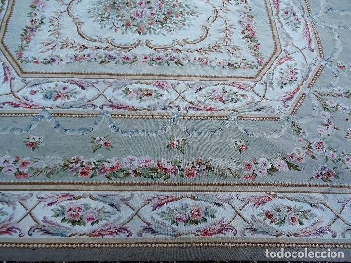 Antigüedades: Alfombra S.XIX Aubusson, lana antigua tejida a mano- Napoleón III - Foto 27 - 187305167