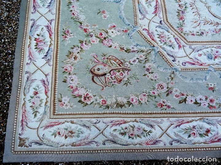 Antigüedades: Alfombra S.XIX Aubusson, lana antigua tejida a mano- Napoleón III - Foto 28 - 187305167
