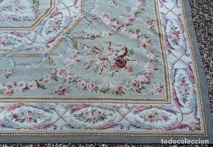Antigüedades: Alfombra S.XIX Aubusson, lana antigua tejida a mano- Napoleón III - Foto 29 - 187305167