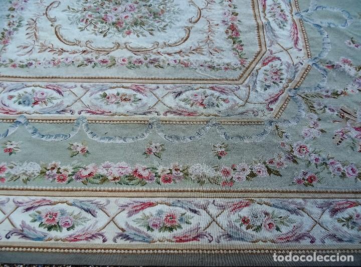 Antigüedades: Alfombra S.XIX Aubusson, lana antigua tejida a mano- Napoleón III - Foto 31 - 187305167