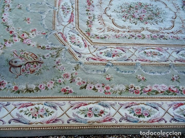 Antigüedades: Alfombra S.XIX Aubusson, lana antigua tejida a mano- Napoleón III - Foto 32 - 187305167