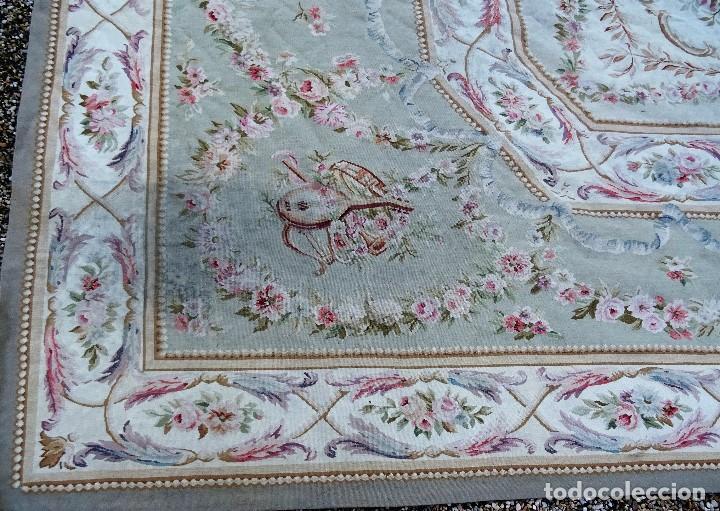 Antigüedades: Alfombra S.XIX Aubusson, lana antigua tejida a mano- Napoleón III - Foto 33 - 187305167