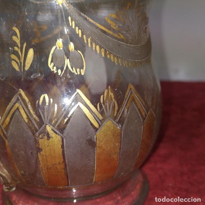 Antigüedades: TAZA. CRISTAL DE LA GRANJA. ESMALTE EN ORO. GRABADO AL ACIDO. ESPAÑA. SIGLO XVIII - Foto 16 - 187309627