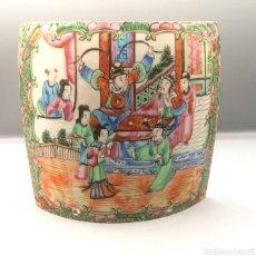 Antigüedades: ANTIGUA PLACA DE PORCELANA CHINA.. Lote 187333683