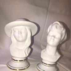 Antigüedades: BUSTO DE NIÑA Y NIÑO EN BISCUITS. Lote 187377372
