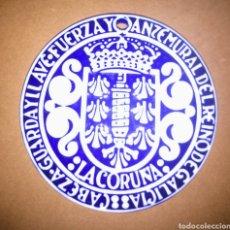 Antigüedades: MEDALLA CO ESCUDO DA CORUÑA O CASTRO SARGADELOS. Lote 187378823