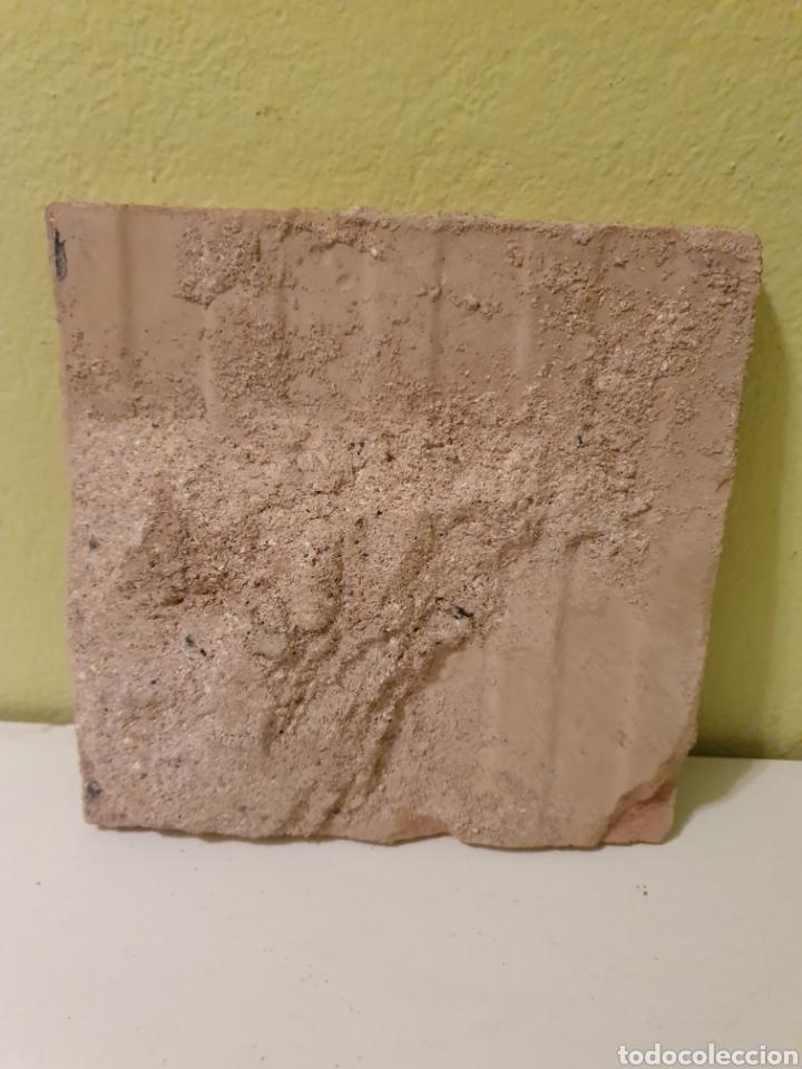 Antigüedades: ANTIGUO AZULEJO DE COCINA MENSAQUE CERÁMICA DE TRIANA (SEVILLA) - Foto 3 - 187389512