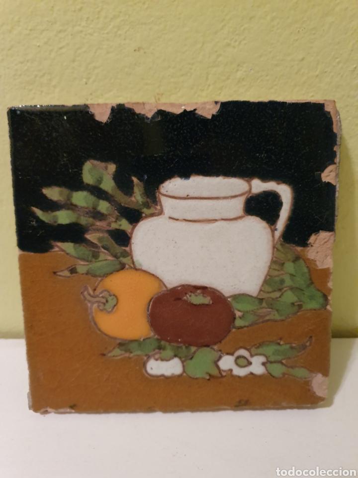 ANTIGUO AZULEJO DE COCINA MENSAQUE CERÁMICA DE TRIANA (SEVILLA) (Antigüedades - Porcelanas y Cerámicas - Triana)