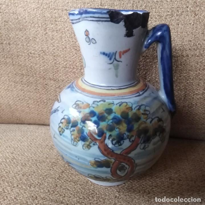 Antigüedades: Antigua jarra de Ruiz de Luna, de Talavera, finales del xix - Foto 7 - 187370873