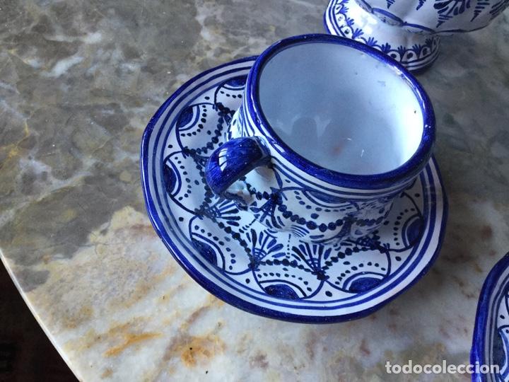 Antigüedades: Antiguo juego de café Talavera, años 60 - Foto 2 - 187414621