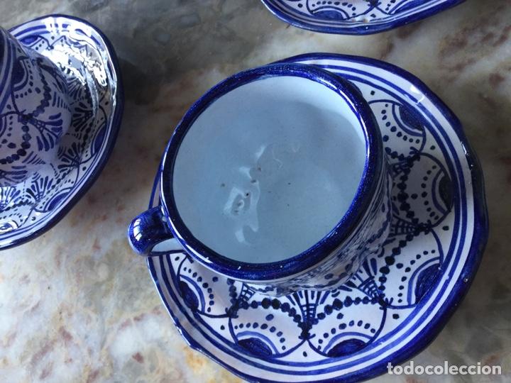 Antigüedades: Antiguo juego de café Talavera, años 60 - Foto 3 - 187414621