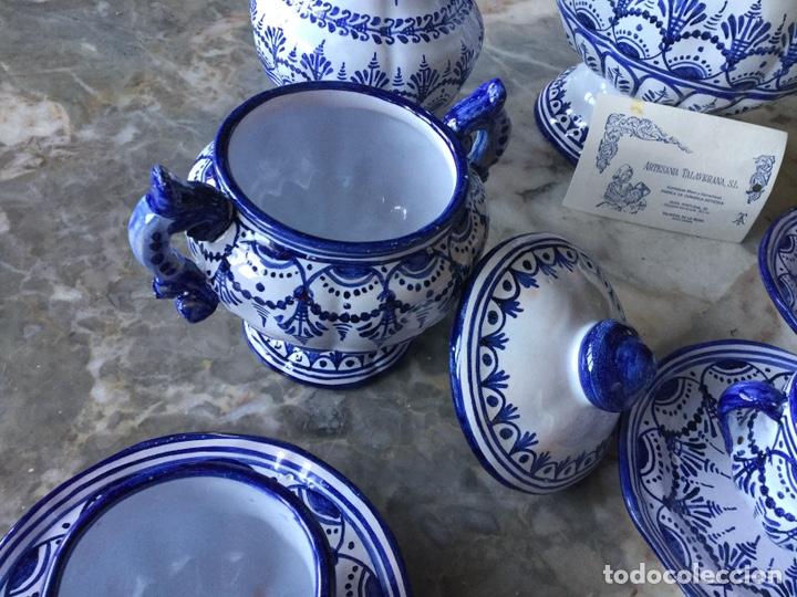 Antigüedades: Antiguo juego de café Talavera, años 60 - Foto 5 - 187414621