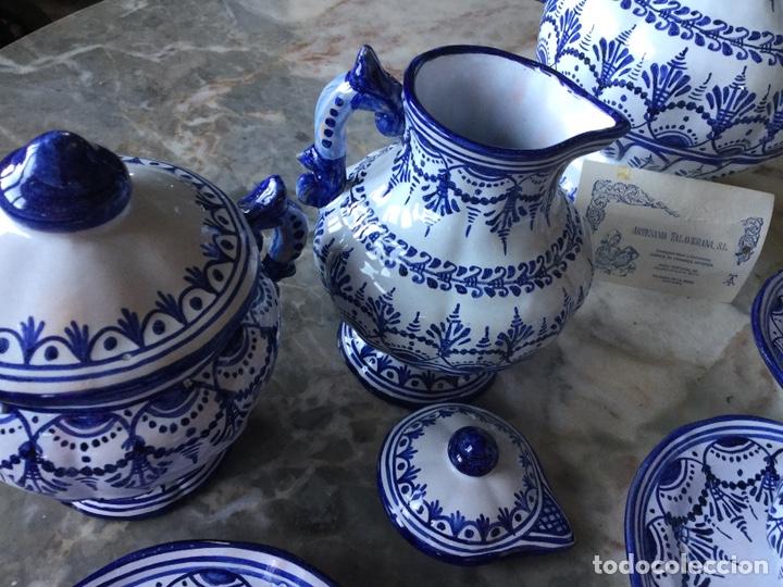 Antigüedades: Antiguo juego de café Talavera, años 60 - Foto 6 - 187414621
