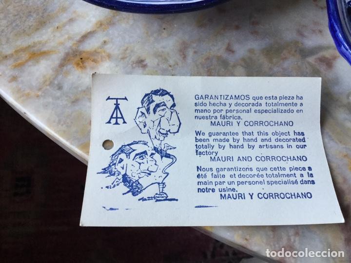 Antigüedades: Antiguo juego de café Talavera, años 60 - Foto 8 - 187414621