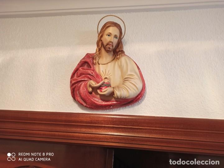 SAGRADO CORAZÓN DE JESÚS ESCAYOLA (Antigüedades - Religiosas - Varios)